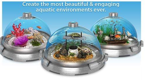 Biobubble Premium Interchangeable Aquariums, Marbled Silver Biobubble ...