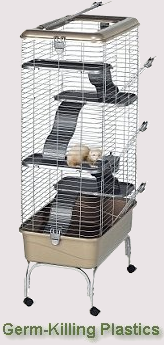 Anti-Microbrial Ferret Cages
