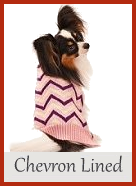 Chevron Lined Dog Sweater