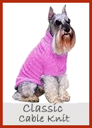 Classic Cable Knit Dog Sweater